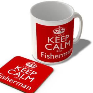 I Can't Keep Calm I'm a Fisherman – Mug and Coaster Set