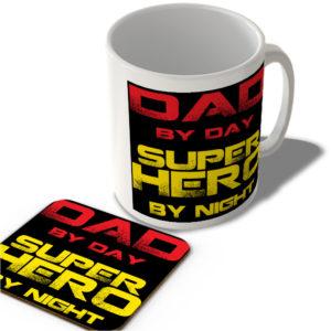 Dad By Day Superhero By Night – Mug and Coaster Set