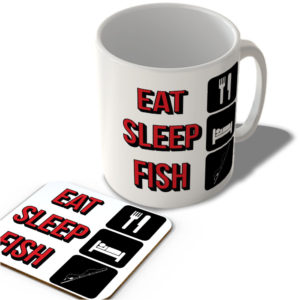 Eat Sleep Fish – Mug and Coaster Set