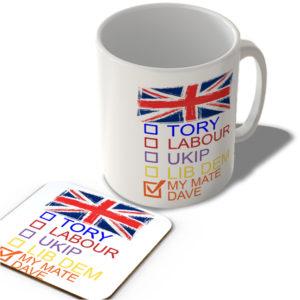 Check Boxes – My Mate Dave – Mug and Coaster Set