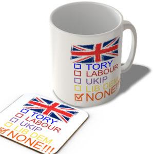 Check Boxes – None!!! – Mug and Coaster Set