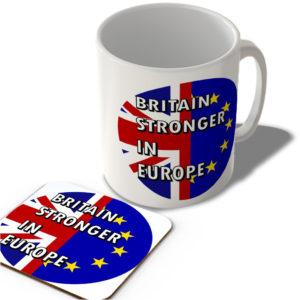 Britain Stronger In Europe – Mug and Coaster Set