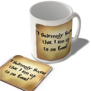"""I Solemnly Swear That I Am Up To No Good.""  – Mug and Coaster Set"