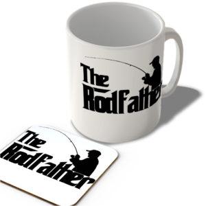 Fishing – The Rodfather  – Mug and Coaster Set