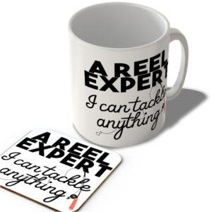 A Reel Expert – I Can Tackle Anything – Fishing  – Mug and Coaster Set