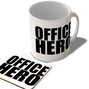 Office Hero  – Mug and Coaster Set