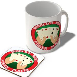 World's Best Poker Player  – Mug and Coaster Set