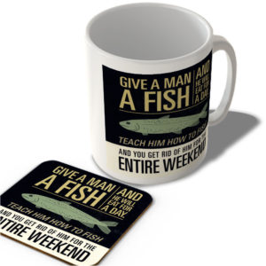 Give a Man a Fish…  – Mug and Coaster Set