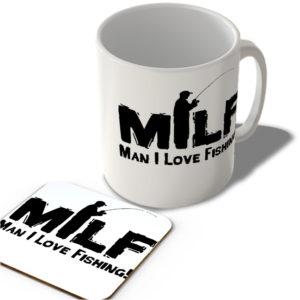 Milf – Man I Love Fishing!  – Mug and Coaster Set