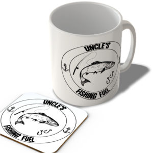 Uncle's Fishing Fuel (White Background)  – Mug and Coaster Set