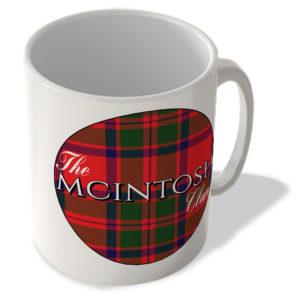 The Mcintosh Clan – Mcintosh Modern Tartan – (Circle Background) – Scottish Mug