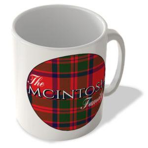 The Mcintosh Family – Mcintosh Modern Tartan – (Circle Background) – Scottish Mug
