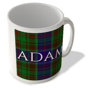 Adam – Adam Tartan – (Full Background) – Scottish Mug