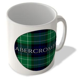 Abercromby – Abercromby Modern Tartan – (Circle Background) – Scottish Mug