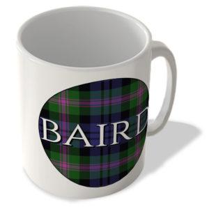 Baird – Baird Modern Tartan – (Circle Background) – Scottish Mug