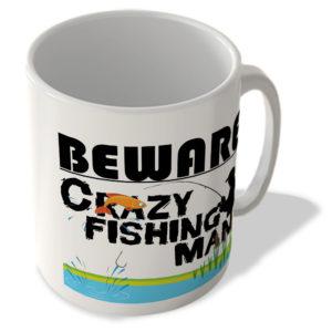 Crazy Fishing Man – Mug