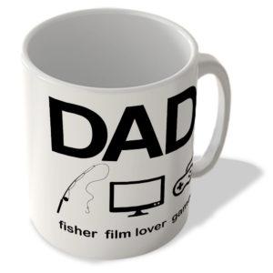 Dad – Fisher – Film Lover – Gamer – Mug