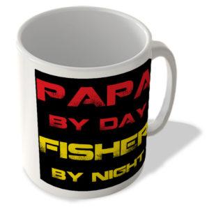 Papa By Day Fisher By Night – Mug
