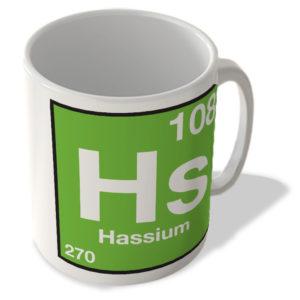 (108) Hassium – Hs – Periodic Table Mug