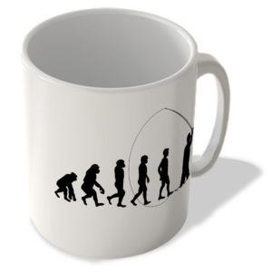 Evolution Of Man – Fishing – Mug