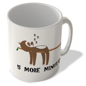 5 More Minutes – Sloth – Mug
