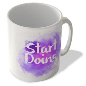 Start Doing – Motivational – Purple Background – Mug