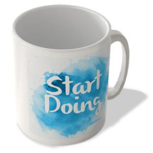 Start Doing – Motivational – Blue Background – Mug
