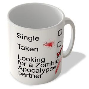 Single – Taken – Looking For a Zombie Apocalypse Partner – Mug