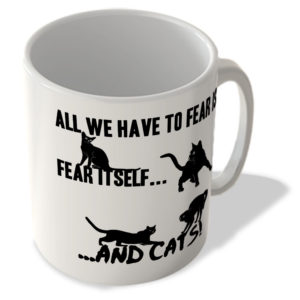 All We Have To Fear is Fear Itself, And Cats! – Mug