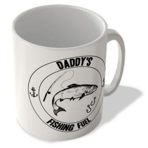 Daddy's Fishing Fuel (White Background) – Mug