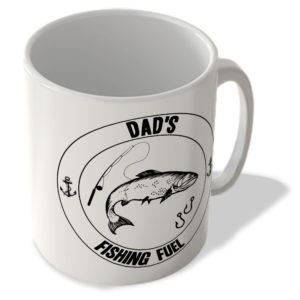 Dad's Fishing Fuel (White Background) – Mug