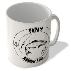 Papa's Fishing Fuel (White Background) – Mug