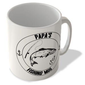 Papa's Fishing Mug (White Background) – Mug