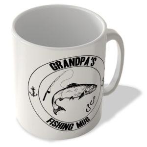 Grandpa's Fishing Mug (White Background) – Mug