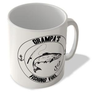 Grampa's Fishing Fuel (White Background) – Mug