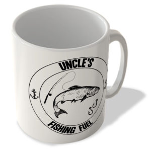 Uncle's Fishing Fuel (White Background) – Mug