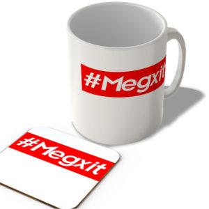 #Megxit – Hashtag Mug and Coaster Set