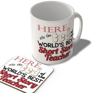 Here Sits The Tea Of The World's Best Short Story Teacher – Mug and Coaster Set