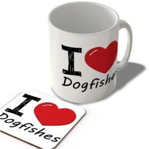 I Love Dogfishes – Mug and Coaster Set