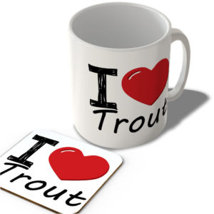 I Love Trout – Mug and Coaster Set