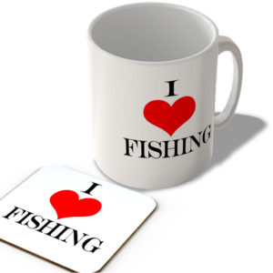 I Love Fishing – Mug and Coaster Set