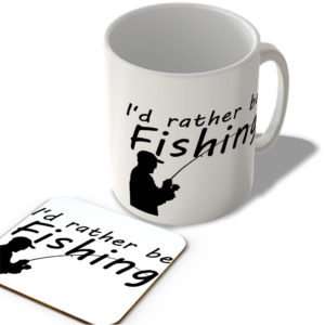 I'd Rather Be Fishing – Mug and Coaster Set