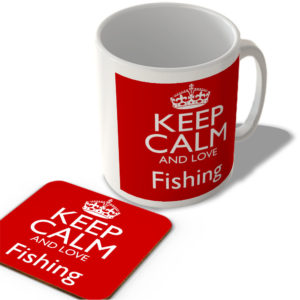 Keep Calm And Love Fishing – Mug and Coaster Set