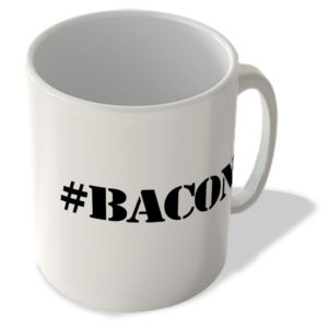 #Bacon – Hashtag Mug
