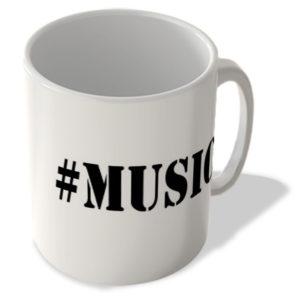 #Music – Hashtag Mug