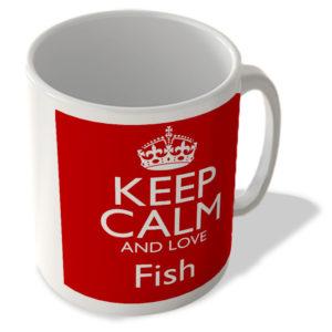 Keep Calm And Love Fish – Mug