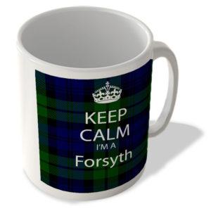 Keep Calm I'm a Forsyth – Scottish Clan Tartan – Mug