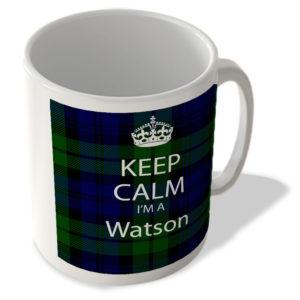 Keep Calm I'm a Watson – Scottish Clan Tartan – Mug