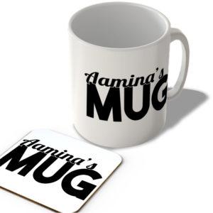 Aamina's Mug – Name Mug and Coaster Set