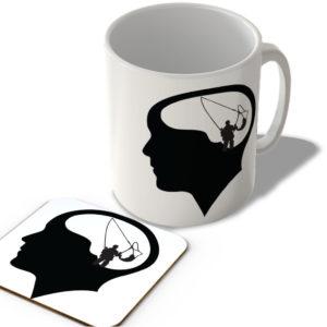 Thinking About Fishing – Mug and Coaster Set